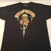 Guns N Roses Mens T Shirt Skull Dagger Tour Concert Rock Slash Logo 2008 Bravado