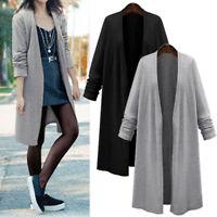 ZANZEA Women Spring Long Tunic Jacket Coat Kimono Outerwear Plus Size Cardigan