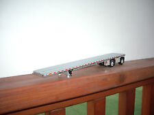DCP 1/64 SILVER DECKED AND SILVER FRAMED WILSON ROADBRUTE FLAT BED TRAILER