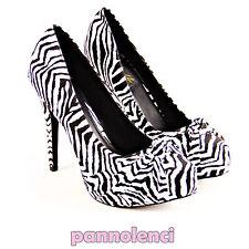 décolleté chaussures pour femmes 40 zébré Pin-up talons PLS-05