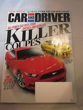 CAR AND DRIVER AUTO MAGAZINE FEBRUARY 2014 FORD MUSTANG BMW M4 KILLER COUPES NEW