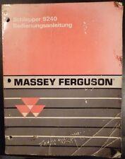 Massey Ferguson Schlepper 9240 Anleitung