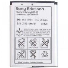 Sony Ericsson OEM BST-36 Cellphone Battery forJ300 K750 K510a T250a W200 W200i
