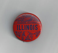 1964 Illinois Rose Bowl button vintage original pin Fightin Illini NCAA football