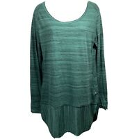 Horny TOAD & CO Womans Tunic Green Space Dye Organic Cotton blend Size Medium