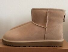UGG Womens Classic Mini Boots Sand Beige Size 10 Warm Twinface Sheepskin 5854