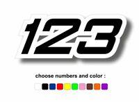 Autocollant personnalise numero course moto voiture r2