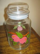 Collectible Vintage Glass - Canister - Franciscan Apple