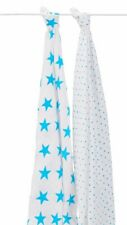 Aden And Anais Fluro Blue 2 Pack Classic Swaddles CLEARANCE