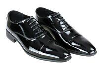 Scarpe uomo Class eleganti nero vernice calzature shoes cerimonia da 40 a 45