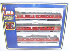 Lima DC HO 1:87 DB ETR-430 Red/Gray Electric MULTIPLE 3-UNIT Train Set MIB`85!