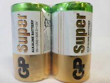 Gold Peak LR20 1.5V Super Alkaline Button Top Battery Size D 2pcs Expiry 03-2029