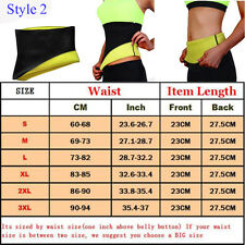 Men Women Corset Tummy Waist Cincher Sweat Trainer Hot Body Shaper Slim Belt