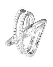 JOOP! JPRG90799A180 Damenring 925 Silber poliert mit weißen Steinen Gr.57 neu