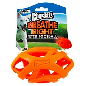Chuckit Fetch Toy Helps Dogs Breath Easier when Fetching- Breathe Right Football