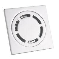 Doccia con scarico a pavimento antiodore in acciaio inox quadrato per 50 ~