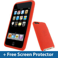 Red Silicone Skin Case for iPod Touch 2nd 3rd Gen Generation 2G 3G iTouch Cover