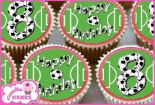 Décorations de gâteau rouges football