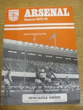 16/03/1976 Arsenal v Newcastle United  (creased, marked). Condition: Listed prev