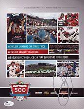 DALE EARNHARDT JR Signed Autographed 2014 Daytona 500 Program, Win, NASCAR, JSA