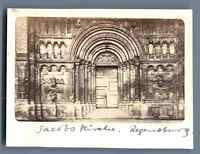 Deutschland, Regensburg, Jacobs Kirche  Vintage albumen print. Vintage Germany