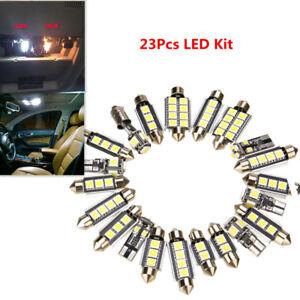 23Pcs Car White LED Inside Light Dome Trunk License Plate Lamp Interior Bulb Kit