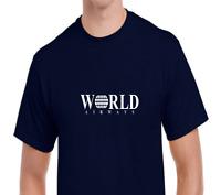 World Airways Vintage US Airline Aviation Geek White Logo Navy Blue T-Shirt