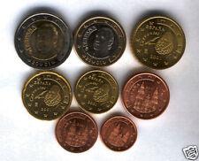 manueduc   ESPAÑA 2001  Las 8 Monedas NUEVAS , Sin Circular