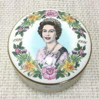 1986 Coalport Porzellan Schmuckkästchen Queen Elizabeth Birthday Royal Andenken