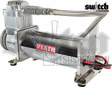 Viair 444c Chrome Air Compressor 200 PSI Single With Remote Filter Mounting Kit