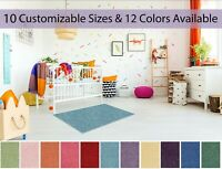 Customizable Soft Colorful and Cozy Kids Area Rugs Multiple Sizes and Colors