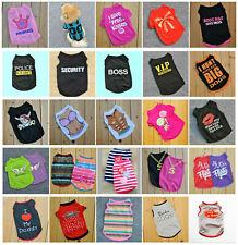 Various Pet Puppy Small Dog Cat Pet Clothes Dress Vest T Shirt Apparel Clothes