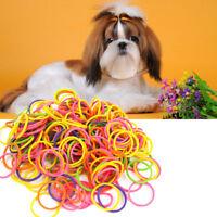 170PCSBag Elastic Stretchy Pet Rubber Band Dog Headband No Stick Hair;