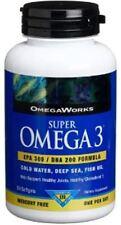OmegaWorks Super Omega 3 EPA 300 / DHA 200 Fish Oil Softgels 50 ea (3 pack)