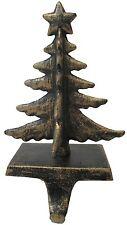 Antique Gold Christmas Tree Stocking Hanger - Christmas Stocking Holder (SH11)
