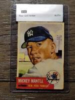 1953 Topps Mickey Mantle #82 New York Yankees baseball card