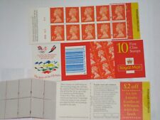 HD25 Barcode Cylinder 10 x First Class Olympic Symbols Stamps Booklet 10 x 1st