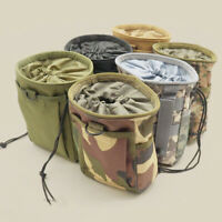 Military Molle Ammo Pouch Tactical Rifle Magazine Pouch Dump Drop Bag Hunting