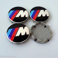 BRAND NEW 4 Pcs BMW M Power Emblem Logo Badge Hub Wheel Rim Center Cap 68mm Set