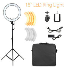 18'' 5500K 55W LED Photo Video Dimmable Adjustable Fluorescent Ring Light Kit