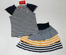 NWT No Added Sugar Bustle Frill Factor Ruffled Skirt & Striped Knit Tee Set 5 6