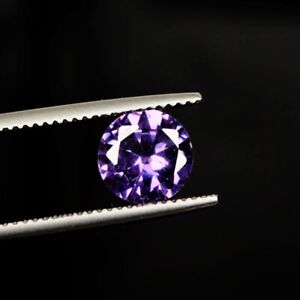 Round Cut Violet Cubic Zirconia 3.75 Ct. 7 mm Faceted Loose Gemstone B-9411