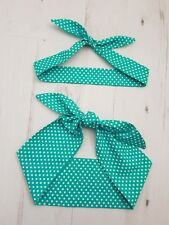 Bib Burp Cloth Mum & Baby Head Scarf Navy Blue Nautical Anchor Sailor Bandana Full Set - 4 Items