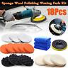 18Pcs/Set Sponge Wool Polish Wax Applicator Kit Car Boat Detailing Cleaning Pads