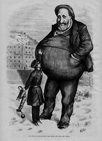 BOSS TWEED ABOVE THE LAW STATES PRISON THE DWARF AND THE GIANT THIEF THOMAS NAST