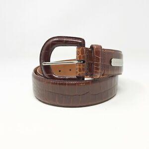 Ralph Lauren Men's Belt Genuine American Alligator Brown Size Med No Buckle
