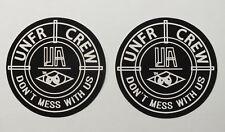 Unfair Athletics 2 Sticker Aufkleber Unfair Crew (S55)
