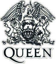 """Queen Music Bumper sticker, wall decor, vinyl decal,  5""""x 4.3"""""""