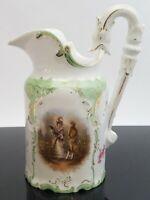 Rosenthal Sanssouci Porcelain Pitcher Creamer Courting Couple w/Serpent Handle