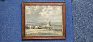 THE LANDMARK by Edward Seago VINTAGE Art Print Size:66cm x 56cm Good Condition.
